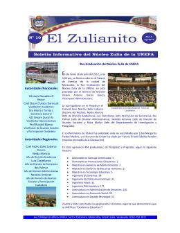 Zulianito 10 - División de Secretaría (Unefa Zulia)