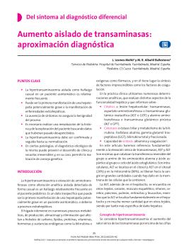 Aumento aislado de transaminasas: aproximación