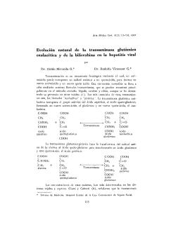 Evolución natural de la transaminasa glutámica oxalacética y de la