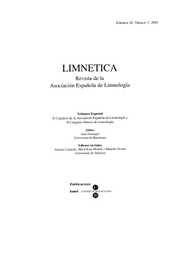 Limnetica volumen 20 (1-2)
