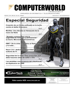 Edición 2_2010 - Computerworld Venezuela