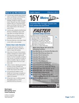 16Y - Washington Metropolitan Area Transit Authority