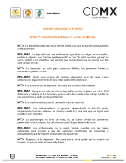 INFORMACIÓN DE INTERÉS MITOS Y REALIDADES ACERCA DE