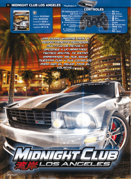 CONTROLES MIDNIGHT CLUB LOS ANGELES PlayStation 3