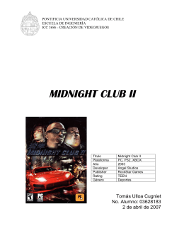 MIDNIGHT CLUB II - Pontificia Universidad Católica de Chile