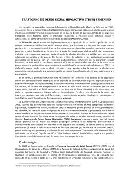TRASTORNO DE DESEO SEXUAL HIPOACTIVO