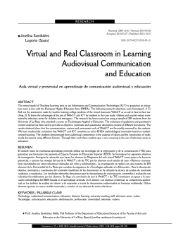 Virtual and Real Classroom in Learning Audiovisual Communication