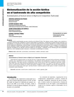 Sistematización de la acción táctica en el taekwondo de alta