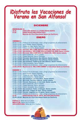 VERANO 2015 WEB - San Alfonso del Mar