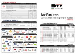 tarifas 2012 empresa