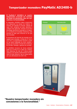 Temporizador monedero PayMatic AD2400-b