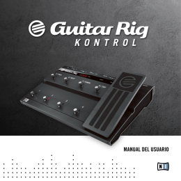 Guitar Rig Kontrol Hardware Reference Spanish