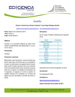 SudoKu - Escuela Colombiana de Ingeniería