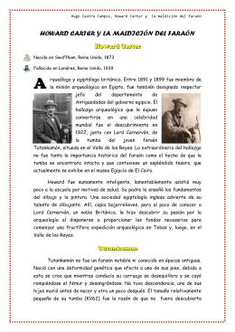 HOWARD CARTER Y LA MALDICIÓN DEL FARAÓN