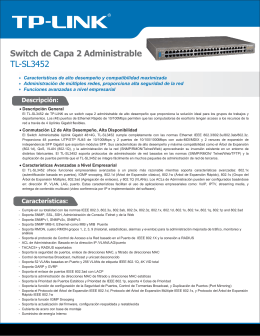 Switch de Capa 2 Administrable TL-SL3452 - TP-Link
