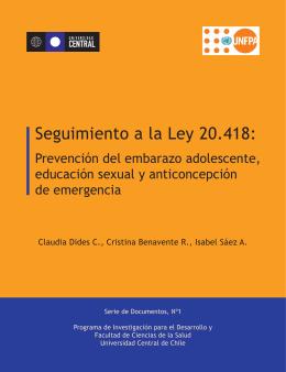 Seguimiento a la Ley 20.418: Prevención del embarazo