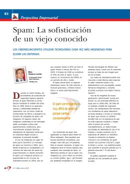 Spam: La sofisticación de un viejo conocido
