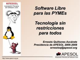 Software Libre para las PYMEs Tecnología sin restricciones para