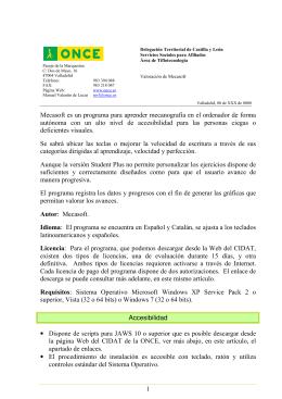 1 Mecasoft es un programa para aprender mecanografía en el