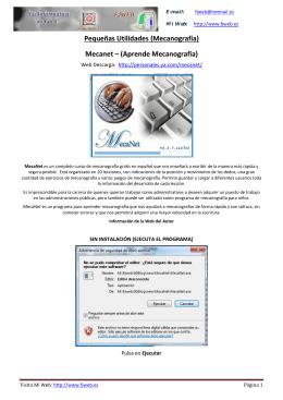 Pequeñas Utilidades (Mecanografía) Mecanet – (Aprende