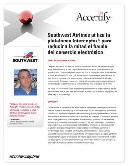Southwest Airlines utiliza la plataforma Interceptas® para