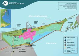 Plano del Parque Regional de Las Salinas de San Pedro