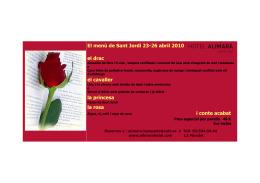 El menú de Sant Jordi 23-26 abril 2010 el drac el cavaller la