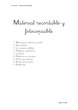 Material recortable y fotocopiable