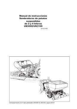 Manual de instrucciones Sembradoras de patatas