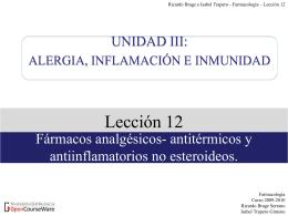 Lección 14. HISTAMINA Y ANTIHISTAMÍNICOS - OCW-UV