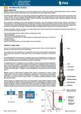 Info Técnica - Sonda Lambda