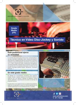 Técnico en Vídeo Disc-Jockey y Sonido