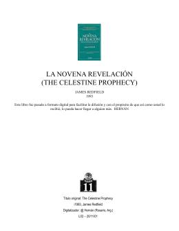la novena revelación (the celestine prophecy)
