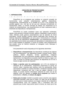 CREACIÓN DE PRESENTACIONES