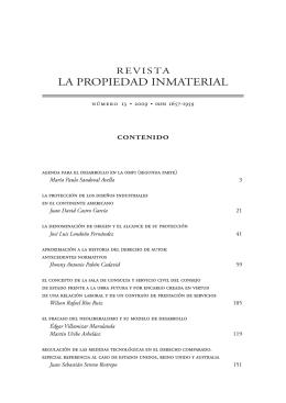 Rev. La propiedad inmaterial 13