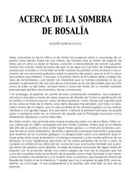 ACERCA DE LA SOMBRA DE ROSALÍA