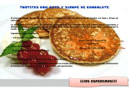 TORTITAS CON NATA Y SIROPE DE CHOCOLATE