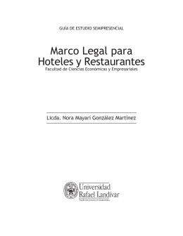 Marco Legal para Hoteles y Restaurantes