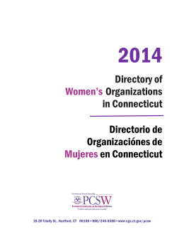 Directory of Women`s Organizations in Connecticut Directorio de