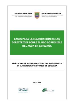bases para la elaboración de las directrices sobre el uso sostenible