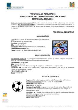 PROGRAMACION OCIO y DEPORTE 2013-2014