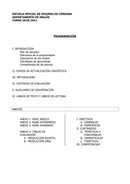 Programación Inglés 2010-11