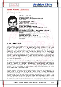 PEREZ VARGAS, Aldo Gonzalo