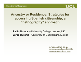 Ancestry or Residence: Strategies for accessing Spanish