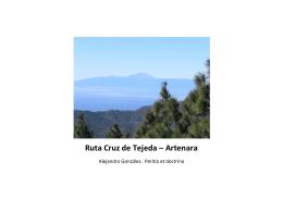 Ruta Cruz de Tejeda – Artenara