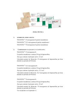 1. TRANSTEC® 35 microgramos/h parche transdérmico TRANSTEC