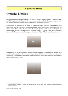 Orbitales híbridos - Cajón de Ciencias