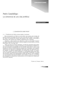 CONVERSACIONES CON... Pedro Casaldáliga