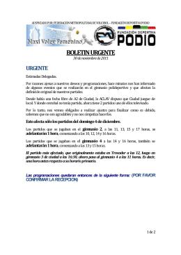 Boletin 030 del 30-11-2011 - Fundacion Deportiva PODIO