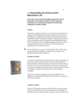 1. Intercambio de archivos entre Macintosh y PC